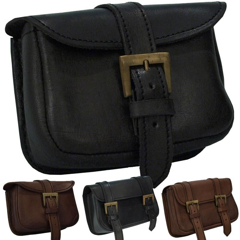 Quality Leather Warrior Belt Bag. Perfect For Stage Costume LARP Or Re-enactment