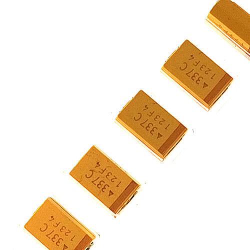 2PCS 7343 SMD Chip Tantalum Capacitor 330UF 337C 16V D Case