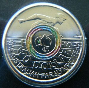 2016 $2 Australian Paralympic Carded Coin