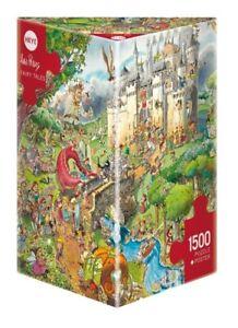 (HY29414) - Heye Puzzles - Triangular , 1500 Pc - Fairy Tales, Prades