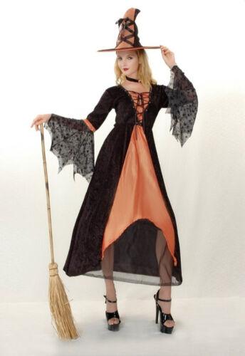 Da Donna malvagia Strega Zucca Arancione Costume Di Halloween Fantasia Party Dress ladcos 25