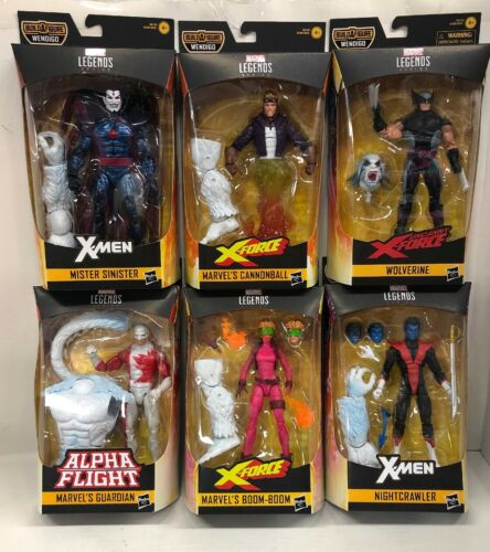 X-Force Marvel Legends wave 1 Lot de 6 figurines Wendigo BAF