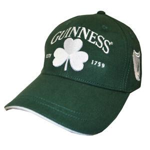 558160c0ed83 Guinness Baseball Cap Bottle Green Shamrock One Size Fits Most Cute ...