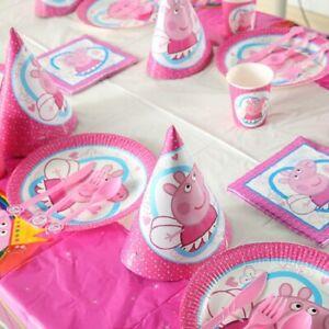 Peppa-Pig-Fete-D-039-anniversaire-Fournitures-Ballon-Sac-Vaisselle-Assiettes-Serviette-Decoration