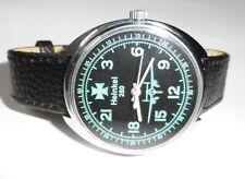 """Heinkel 280""MONTRE RUSSE LE CADRAN 24 HEURES BRACELET CUIR NATUREL #79152"