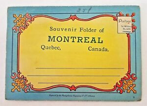 Ephemera-Montreal-Quebec-Canada-18-Color-Illustrations-Souvenir-Folder-Vintage
