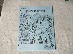 JUNGLE-LORD-SCHEMATICS-PINBALL-WILLIAMS-arcade-game-manual