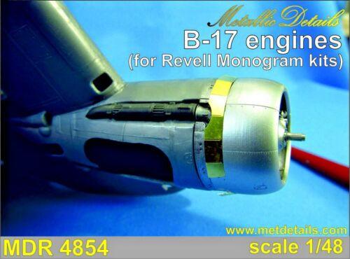 Metallic Details MDR4854-1//48 Monogram Boeing B-17 Engines for Revell