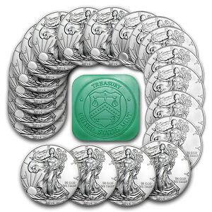 2016 1 Oz Silver American Eagle Coins Bu Lot Roll Tube