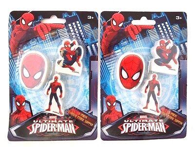 The Ultimate Spiderman Eraser Set