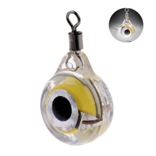 Mini LED Flash Fish Lure Light Lamp Deep Drop Underwater Eye Shape Fishing Lure