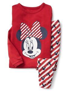Toddler Christmas Pajamas.Details About Gap Baby Toddler Girls Size 2t 2 Years Minnie Mouse Christmas Pajamas Pj Set