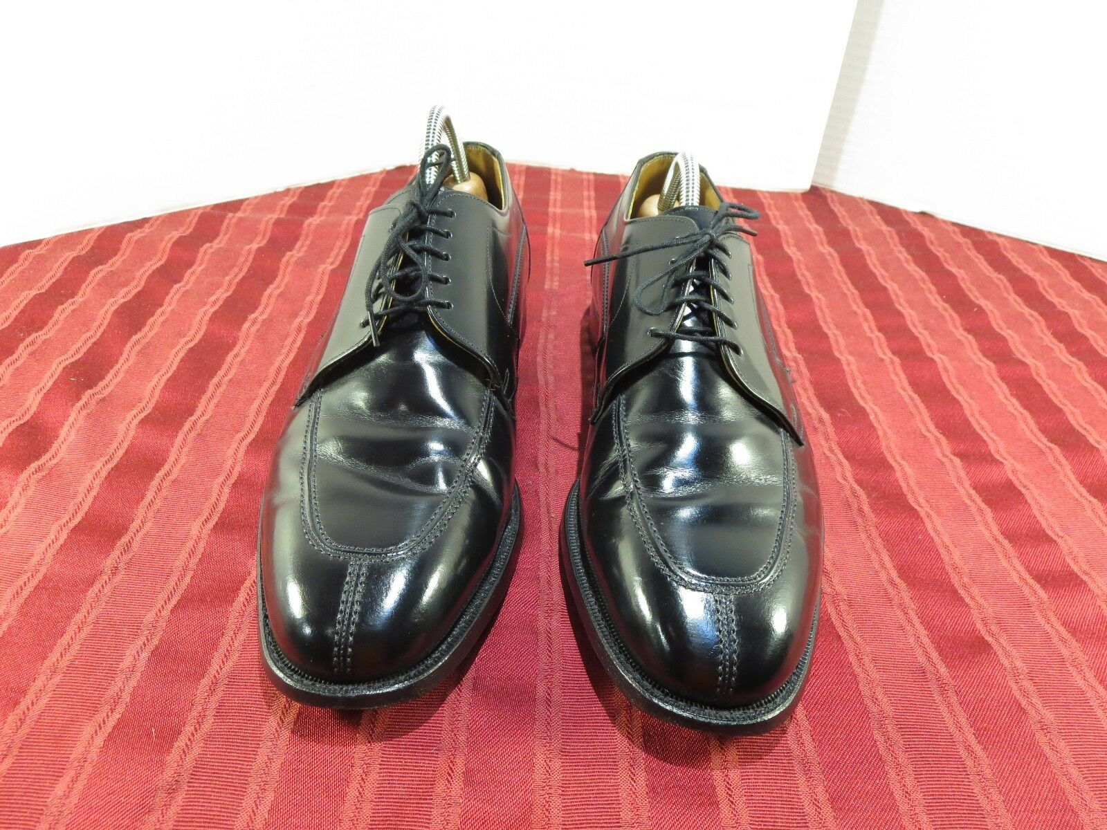 Johnston & Murphy Limited Black Leather Oxford Split Toe Dress Men Sz 10.5 D B