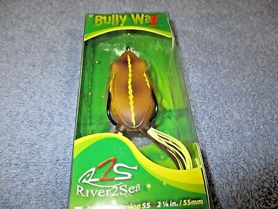 River2Sea NEW 2015 Design BULLY WA 65II//21 Frog in Color PIXIE for BASS//PIKE