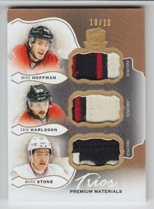2016-17-UD-THE-CUP-STONE-KARLSSON-HOFFMAN-PATCH-10-TRIOS-MATERIALS-GAME-Senator
