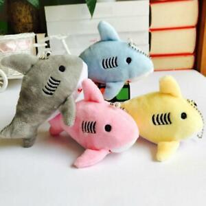 Baby Shark Keychains Plushs Key Chain Stuffed Mini Small Animal Tiny Red Y3A6