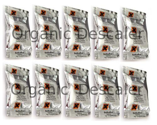 24 Détartrage Descaler Tablettes Pour Tous Braun /& Bosch Tassimo machines à café