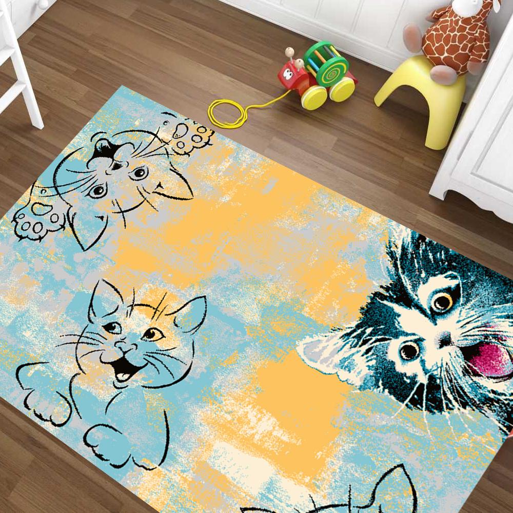 Gioco tappeto bambini tappeto stanza dei bambini travestirci COOL BLU Vesch. dimensioni