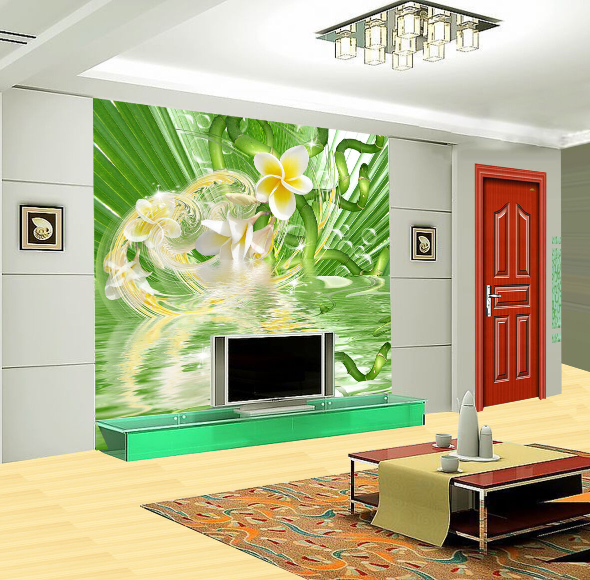 3D Greenery Flowers  5 WallPaper Murals Wall Print Decal Wall Deco AJ WALLPAPER