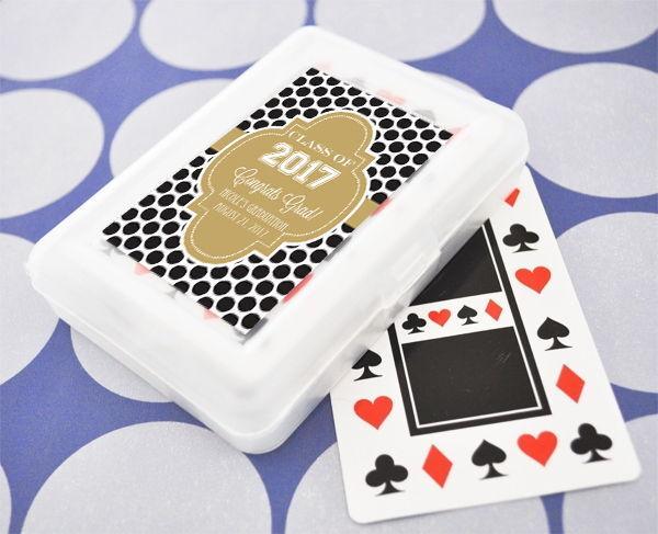 Tema personalizado jugando a las cartas Vegas Fiesta de graduación Recuerdo Regalo Favores