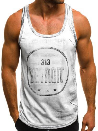 OZONEE MIXD 6308 Herren Tanktop Aufdruck T-Shirt Muskelshirt Fitness Ärmellos