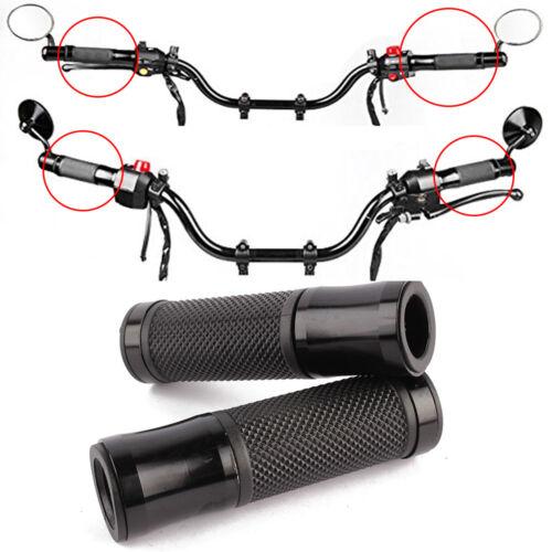 "New Motorcycle Aluminum Rubber Gel Hand Grips 7//8/"" 22mm Handle Bar Bike Bicycle"