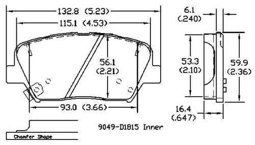 Disc Brake Pad Set Front OMNIPARTS 13051317