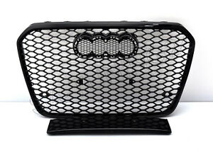 Fuer-Audi-A7-4G-C7-RS7-Look-Wabengrill-Kuehlergrill-Stossstange-Diffuser-Grill