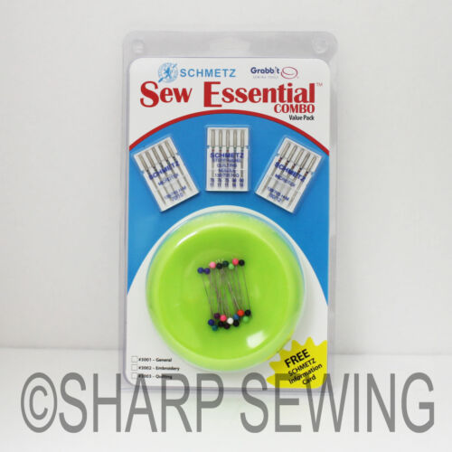 PINS AND NEEDLES LIME GRABBIT SCHMETZ SEW ESSENTIAL COMBO VALUE PACK