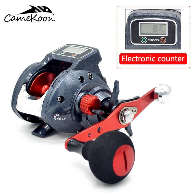 CAMEKOON Baitcasting Fishing Reel With Line Counter 16+1Bearings Baitcaster Reel