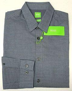 NWT-125-Hugo-Boss-Gray-Shirt-LS-Mens-L-XL-XXL-C-Bustai-50329930-410-Regular