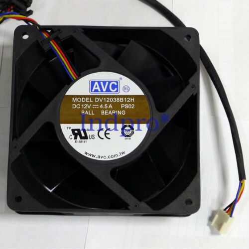 for 1 pcs AVC Fan DV12038B12H 12038 DC 12V 4.5A 4 Pin 120*120*38mm
