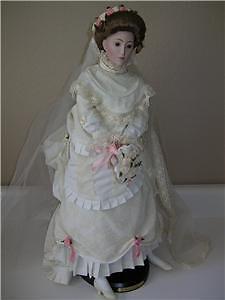 FRANKLIN MINT  VICTORIAN BRIDE  22  DOLL 1987 EDITION