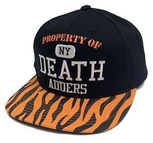 0437e22d Details about MISHKA Property of NY Death Adders Snapback Hat Cap Black 2  Tone Tiger Bengals