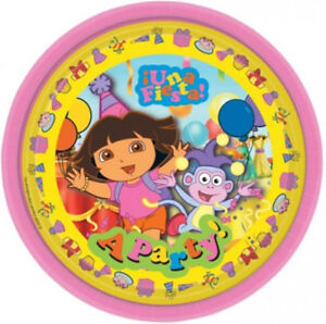 Image is loading 8-Dora-The-Explorer-Pink-Una-Fiesta-Disposable-  sc 1 st  eBay : fiesta paper plates - pezcame.com