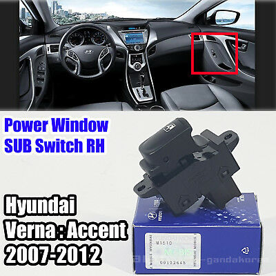 Details about Genuine 935801E001 Power Window Switch Sub RH HYUNDAI VERNA  2007- 2012