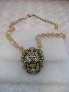 HEIDI-DAUS-034-Lovely-Lion-034-Golden-Shadow-17-034-L-Beaded-Door-Knocker-Necklace