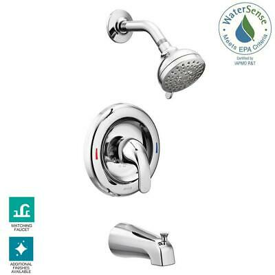Tub And Shower Valve.Moen Adler Single Handle 4 Spray Tub And Shower Faucet With Valve In Chrome