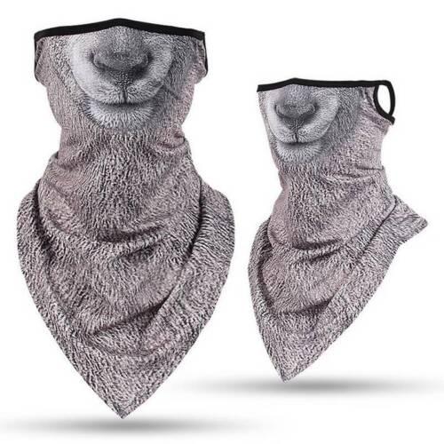 Unisex Face Neck Cover Gaiter Snood Scarf Headwrap Biker Beanie Cap Tube Bandana