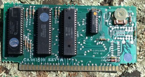 6502C//Sally PCB without ANTIC or GTIA chips Atari 400//800 PAL CPU
