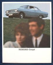Prospekt brochure Opel Rekord Coupé (1965)