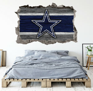 Image Is Loading Dallas Cowboys Wall Art Decal Smashed Football