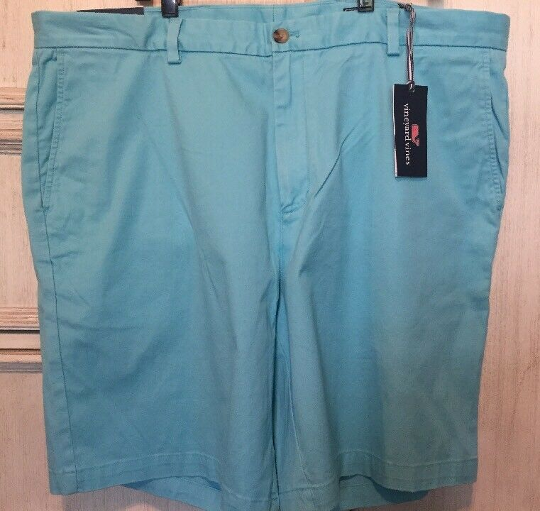 Vineyard Vines Breaker Shorts Mens Size 42 Waist Classic Flat Front Light bluee