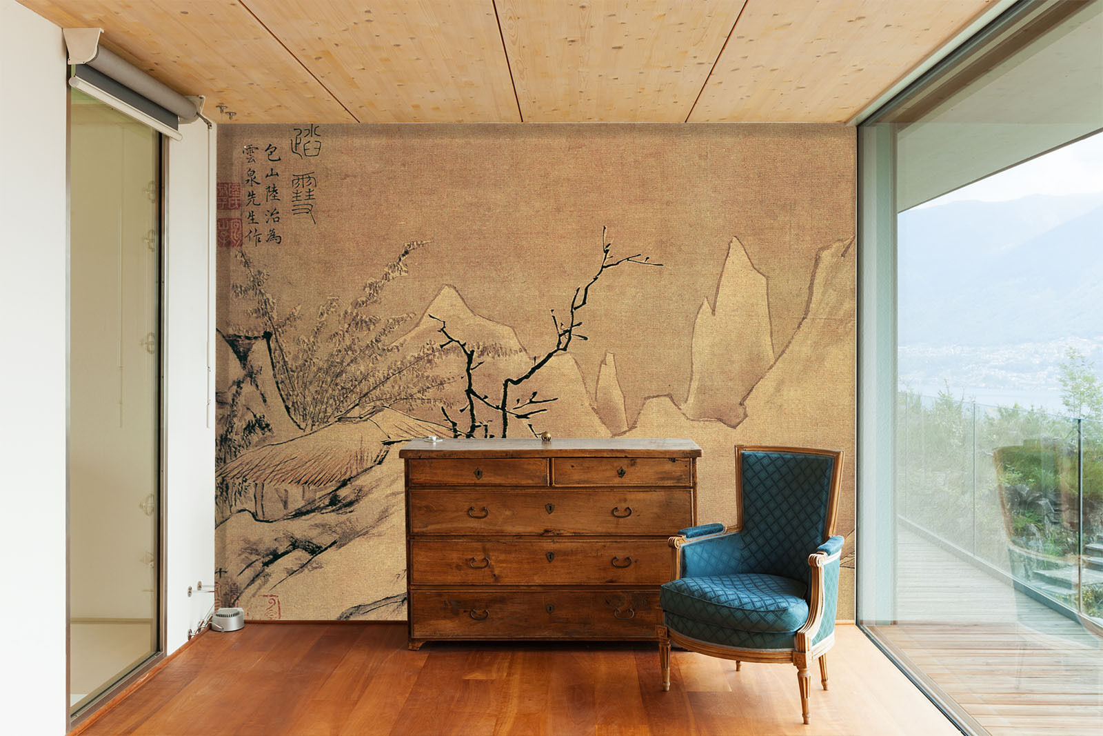 3D Branches Ink Painting Paper Wall Print Wall Decal Wall Deco Indoor Murals