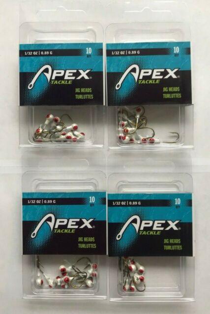 10 PACK AP32-10-3 APEX ROUNDHEAD JIG #1//32OZ