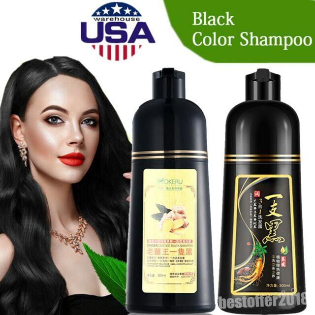 Permanent Herbal Noni Black Hair Magic Color Shampoo Dye For Sale Online Ebay