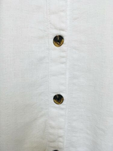 Womens White Linen Blend Top Button Front 6-22 NEW Ex Highstreet RRP £22