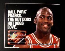 1993 Michael Jordan Chicago Bulls Basketball Ball Park Franks Hot Dogs Display