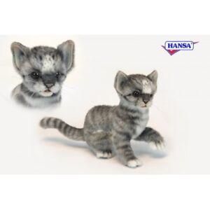 Hansa Toys Grey And White Kitten Cat 6493 Plush Stuffed Animal Ebay