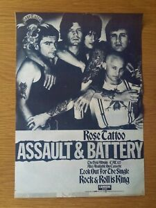 ROSE-TATTOO-ASSAULT-amp-BATTERY-10-034-x-15-034-FULL-PAGE-MAGAZINE-ADVERT-1981-ROCK